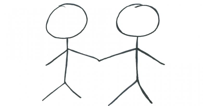 figures-holding-hands