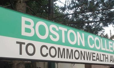 Boston College T sign