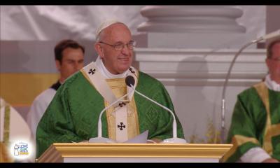 Pope Francis Giving Homily in Philadelphia