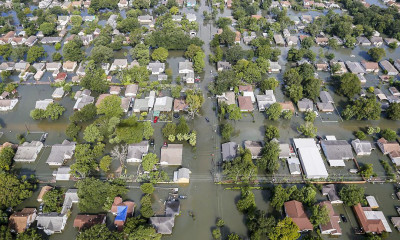 Aerial View of Houston Flooding