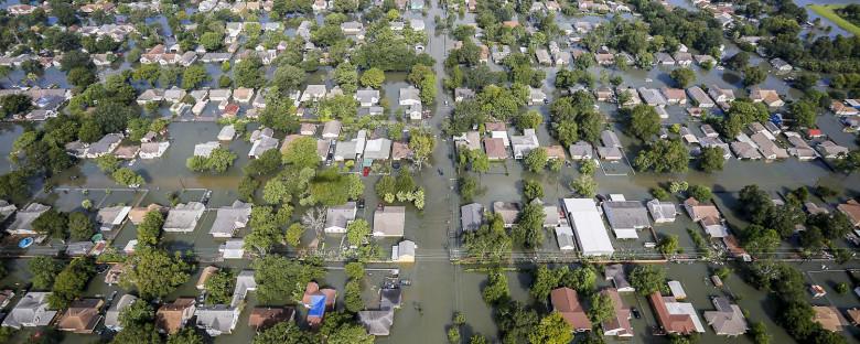 Aerial View of Houston Flooding