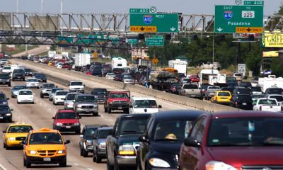 Houston, TX, September 21, 2005- Traffic jammed the freeways as Houstonians fled the on-coming hurricane.   Recent memories of Hurricane Katrina sent people scrambling to prepare for Hurricane Rita.  Photo by Ed Edahl/FEMA