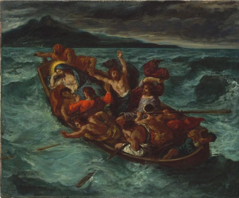 Jesus Calms the Sea Eugène_Delacroix_-_Christ_Endormi_pendant_la_Tempête